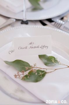 Custom Calligraphy Wedding Place Cards or Escort by BPinvites, $1.00