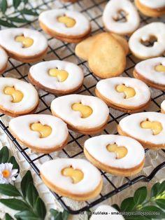 ciasteczka-jajeczka-z-wanilia-i-lemon-curd Easter Food, Easter Recipes, Dessert Recipes, Desserts, Polish Food, Polish Recipes, Lemon Curd, Food And Drink, Baking
