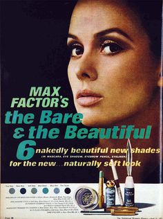 Max Factor Cosmetics Ad, 1966