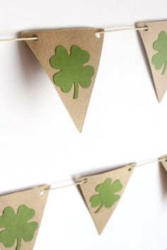 Saint Patrick's Day Bunting / Garland / by makeitmerryshop on Etsy