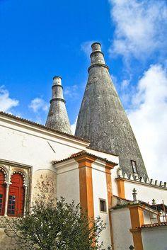 Vista das chaminés, Palácio Nacional de Sintra   View of the chimneys, National Palace of Sintra
