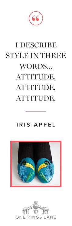Style & Design Icon: Iris Apfel… Another Iris-ism!! #IrisApfel