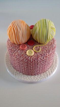 Knitting Cake Crazy Cakes, Fancy Cakes, Knitting Cake, Sewing Cake, Crochet Cake, 70th Birthday Cake, Mom Cake, Yarn Cake, Unique Cakes