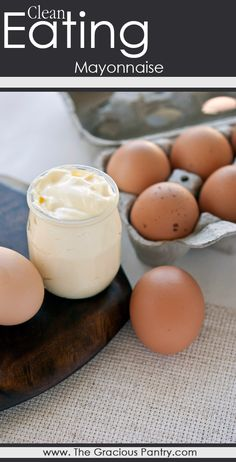 Clean Eating Mayonnaise. #CleanEating - uses an immersion blender.