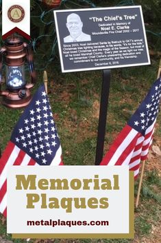 Visit MetalPlaques.com to learn how you can easily and quickly order your own memorial plaque to honor someone who's touched your life this Independence Day
