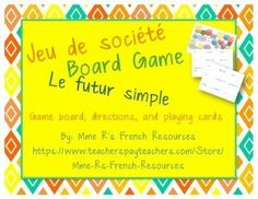 Want a fun way to practice regular and irregular verbs in the future?  The future board game is a quick and fun way to help your students practice while having fun.Students move their game pieces around the board and create sentences using a variety of verbs and subjects.