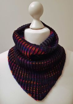 My First Brioche Cowl is finished, just in time! | Jo-Creates