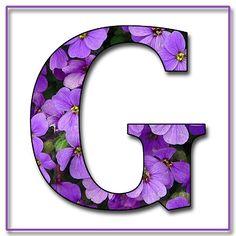 """BLOG ENCANTADO de la abuelita: """"Flores azules y violetas"""" libres del libro de recuerdos las letras del alfabeto en formato JPG y PNG"""