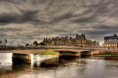 Bridge over the river Ness Inverness Scotland