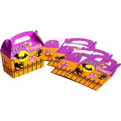 Friendly Halloween Treat Boxes 5ct