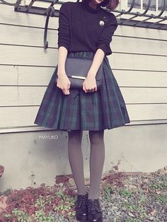 Pin on ティーンズファッション Kawaii Fashion, Cute Fashion, Vintage Fashion, Fashion Outfits, Womens Fashion, Japanese Fashion, Asian Fashion, Dark Fashion, Winter Fashion