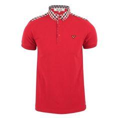 Voi Mens Ellis Short Sleeve Polo Shirt Red Small