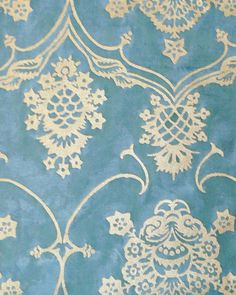 """Fortuny fabric remnant - 11"""" x 8"""" long - would make a fabulous neck roll, backed with silk velvet"""