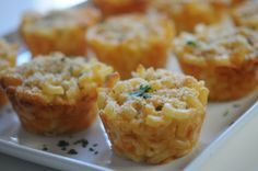 When I first graduated from college, and was living in a dreary little apartment, mac and cheese was one of my few specialties. Granted it was straight from a box, but it was one of those meals that made me feel like I was home. I shared a gussied up truffle version a couple of years back (here), and since the Academy Awards are just days away, I thought I'd make it more party-friendly. I followed this recipe and found the bite-sized portions to be even more appealing, and were just as good…