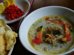 The Online Travel Agent in Indonesia Soto Betawi, Asian, Indonesian Food, Thai Red Curry, Make It Simple, Beef, Cooking, Ethnic Recipes, Jakarta