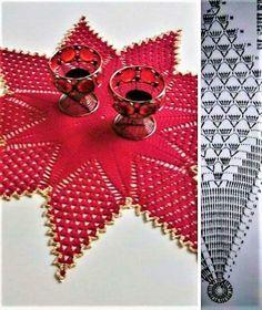 Adornando la Navidad con tapetes y cubremanteles espectaculares | Otakulandia.es Christmas Crochet Patterns, Doilies, Free Crochet, Pattern Design, Christmas Tree, Knitting, Holiday Decor, Cards, Hobby