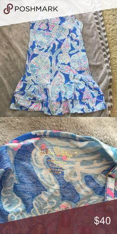 Lily Pulitzer dress I wear an xxs or 00 and got this in the kids Lilly fits perfect and is in perfect condition size 12-14 XL. Will sell cheaper on Ⓜ️ Lilly Pulitzer Dresses Mini