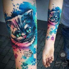 Tattoo-Idea-Design-Cheshire-Cat-21 #cheshirecatsdiy