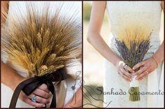 Lindo opção de buquê, perfeito para um casamento com tema rústico ou ao ar livre.
