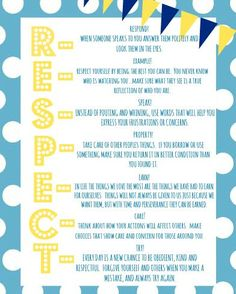RESPECT - What does that mean to you?