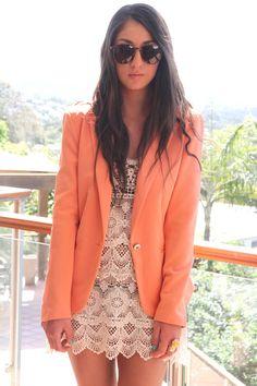 i wanna pull off that peachy orange