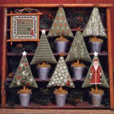OOP Cross Stitch Booklet Prairie Schooler Christmas Trees 82 Ornaments Scarce   eBay