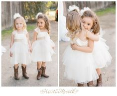 I love these dresses AND the whole wedding in general! SO CUTE! {Caleb and Breanna} Vintage Country Wedding at The Grove
