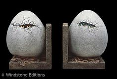 hatching egg bookends by Reptangle
