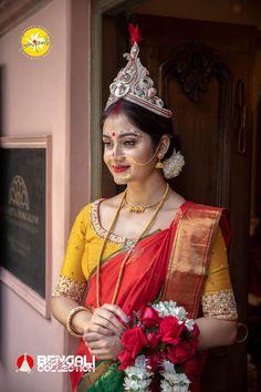 Bengali Bridal Makeup, Bengali Wedding, Indian Wedding Fashion, Bengali Bride, Hindu Bride, Saree Wedding, Indian Photoshoot, Bridal Photoshoot, Perfect Bride