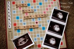 pregnancy announcement scrabble board