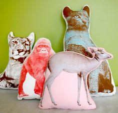 animal pillows ... idea for diy for girls room