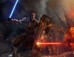 Obi-Wan Kenobi in battle
