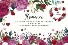 Romance- Watercolor Clipart Set by Twigs and Twine on @creativemarket