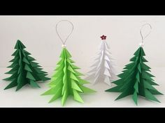 Hattifant - 3D Paper Christmas Tree | 3D Christmas Tree with Paper - includes FREE templates - YouTube