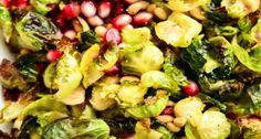 Crispy Brussels Sprout Salad with Pomegranate Seeds