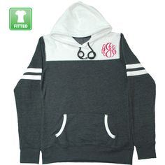 Personalized Fitted Hooded Varsity Pullover Monogrammed Hoodie Winter... ($40) ❤ liked on Polyvore featuring tops, hoodies, pink, sweatshirts, women's clothing, shirt hoodies, fitted shirts, pink hoodies, pink checkered shirt and checkered shirt