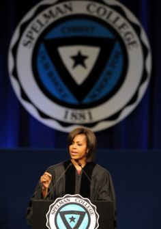 First Lady Michelle Obama at my alma mater, Spelman College