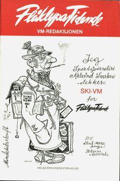 Julekort Kjell Aukrust. Flåklypa Tidende. Ski Vm 1982. Utg Erichsens forlag Character Inspiration, Character Design, Norway, Abs, Comic Books, Christmas Postcards, Author, Comics, Artist