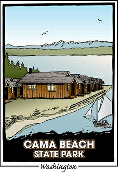 """Within a 90-minute drive of Seattle, Cama Beach offers day and overnight visitors alike a """"time capsule"""" experience. The historic fishing resort was a favorite summer getaway for families for more than 50 years. The area, used for centuries by Native Americans for fishing and hunting, looks out on sweeping views of the Sound, with Whidbey Island and the Olympic Mountains beyond."""
