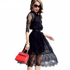 Woman Stitching Casual Dress Elegant Evening Party Dresses  #dress #women #woman #clothes #fashion #clothe