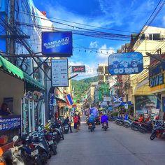 The streets of Patong #shoppingday #motorbikes #patong #phuket  Credit: @fares_dubai