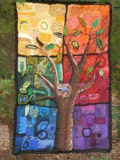 Kaye Adolphson Designs. Freeform crochet wall hanging