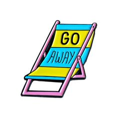 Go Away Chair Pin by Margherita Urbani from Valley Cruise Press
