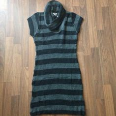 "⚡️SALE ⚡️Sweater Dress ~ BRAND NEW ~ Cute black and grey sweater dress. Perfect for fall & to wear with leggings. You will need to wear with a under shirt/slip. 35.5"" length  FAIR OFFERS CONSIDERED!!!!  Stagelight Dresses"