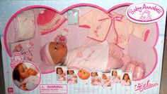 2005 Zapf Creation Baby Annabell Interactive Girl Doll Toy Deluxe Set New In Box