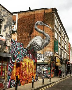 East London is known for its street art, which is always changing and evolving. This scene on Hanbury Street off the famous Brick Lane shows a mix of old and new art that makes the area worth visiting again and again. Photo from BBC_Travel on Instagram.