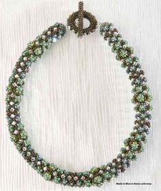 Rondo Neckpiece from Rachel Nelson Smith's Bead Riffs.  Free PDF at bottom of page ~ Seed Bead Tutorials