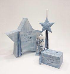 a9662cb4fa5 Πακέτα βάπτισης-κουτιά λαμπάδες · Βαπτιστικό σύνολο για αγόρι με θέμα  αστέρι της Έλενας Μανάκου, annassecret, Χειροποιητες μπομπονιερες γαμου