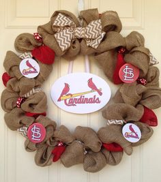 St. Louis Cardinals Wreath by Toobes on Etsy, $60.00