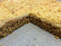 Liian hyvää: Banaani-murupiirakkaa pellillinen Sweet Pie, Banana Bread, Cake Recipes, Cheesecake, Food And Drink, Sweets, Snacks, Dishes, Baking